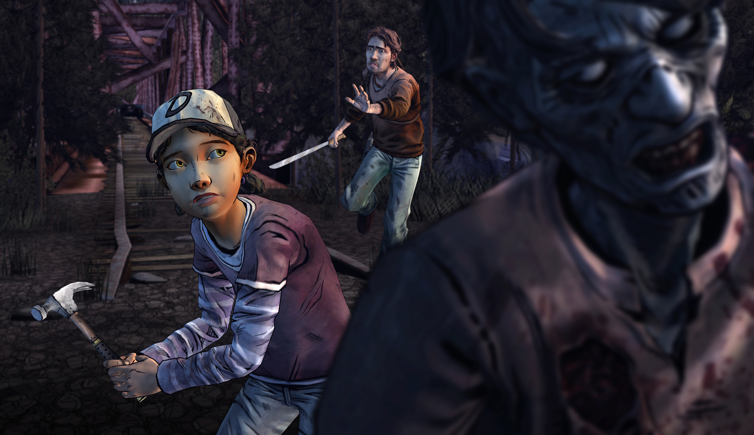 Artistry in Games lukeclemwalkerbridge New Screenshot For The Walking Dead Shows How Awesome The Episode Will Look Opinion  the walking dead season two the walking dead season one TellTale tales from the borderlands jurassic park a house divided
