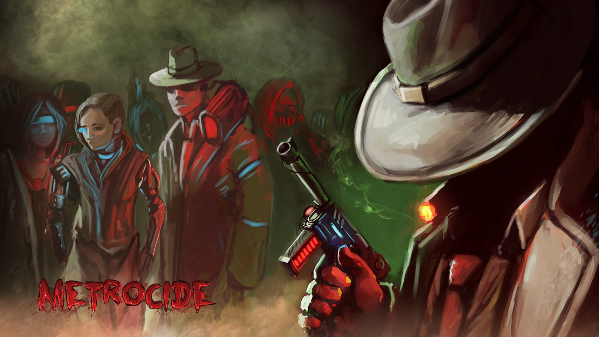 Artistry in Games Metrocide_Citizens_Wallpaper Metrocide First Impressions Review Reviews  top-down top single-player Shooter RPG retro Miami Metrocide metro isometric hotline miami Hotline Hitman hardcore ex down deus ex deus cyberpunk beast altered