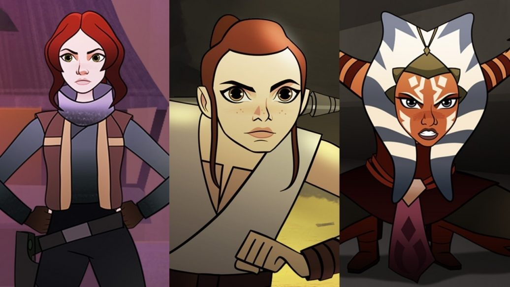 Artistry in Games Star-Wars-Forces-of-Destiny-First-Look-1036x583 Star Wars Forces of Destiny - First Look News  swco Star Wars Forces of Destiny star wars celebration star wars Sabine Wren Rey Padme Amidala Leia Organa Jyn Erso IGN Felicity Jones feature Daisy Ridley Ahsoka Tano