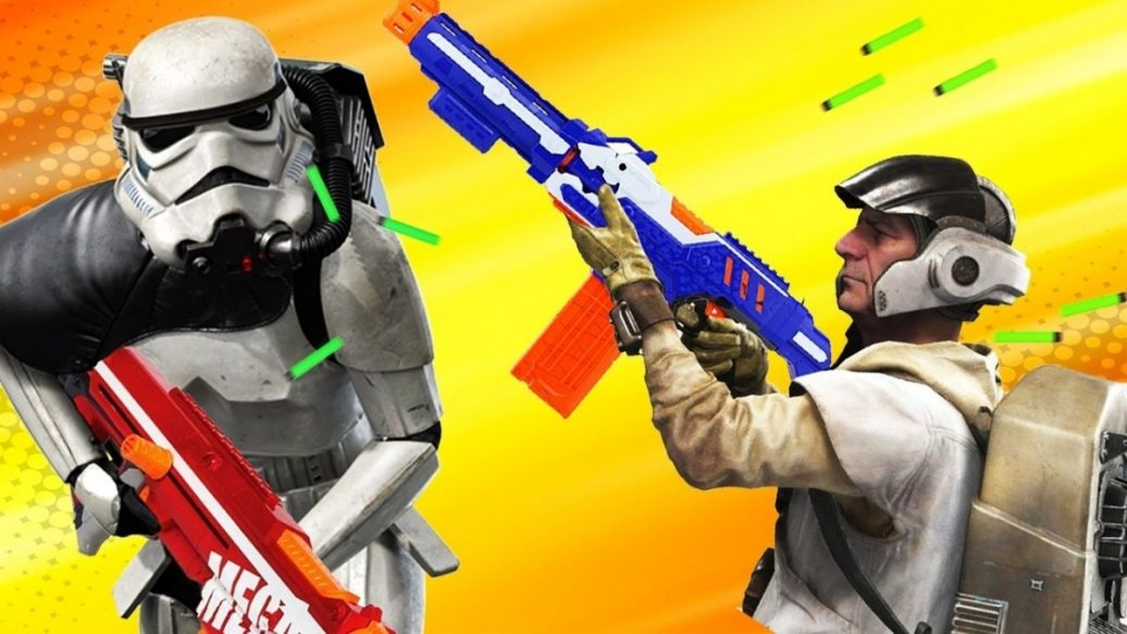 Artistry in Games 5-Star-Wars-Battlefront-Weapons-We-Want-as-NERF-Guns-Up-At-Noon-Live-1036x583 5 Star Wars Battlefront Weapons We Want as NERF Guns - Up At Noon Live! News  Xbox One top videos Super Soaker Star Wars Battlefront II star wars Shooter PC Nerf IGN hasbro Electronic Arts DICE (Digital Illusions CE) battlefront 2 #ps4