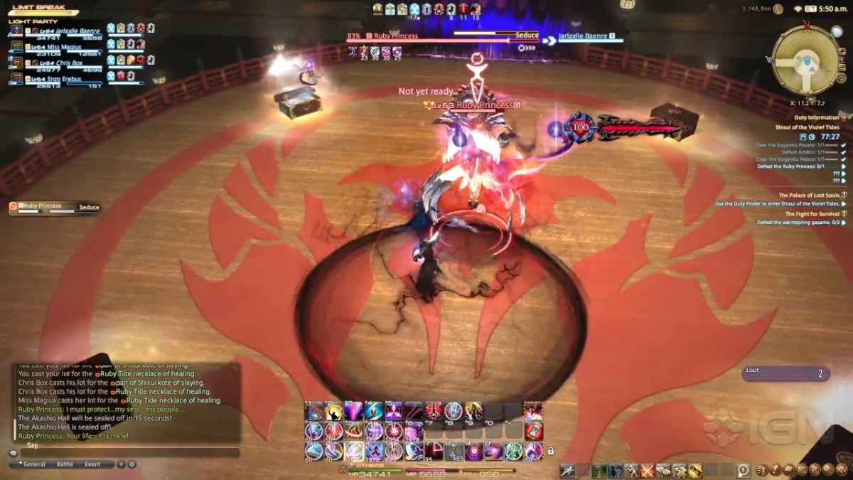 Final Fantasy XIV: Stormblood - Shisui of the Violet Tides ...