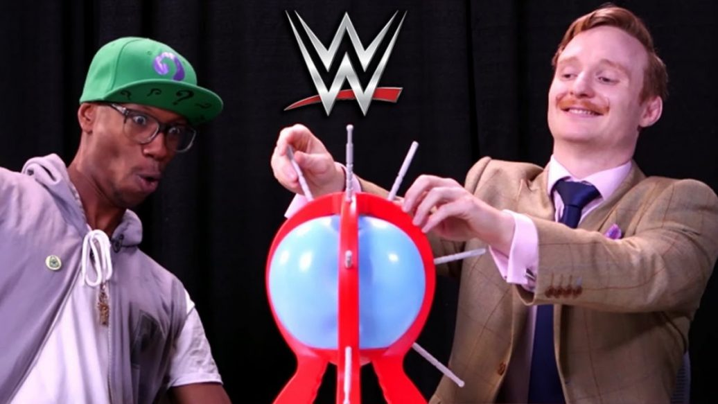 Artistry in Games DONT-POP-THE-BALLOON-W-WWE-SUPERSTARS-1036x583 DON'T POP THE BALLOON W/ WWE SUPERSTARS Reviews  wwe rhyno WWE gang beasts WWE gaming world wrestling entertainment up up down down Smosh Games smosh game bang smosh game jovenshire gentleman jack gallagher game bang challenge game bang boom boom balloon challenge boom boom balloon balloon pop balloon game balloon challenge balloon