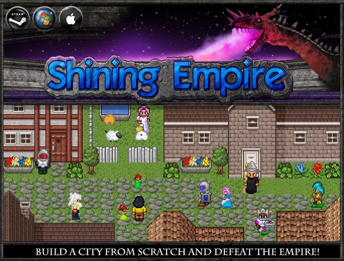 Artistry in Games ShiningEmpire1 Kickstarter For Shining Empire Shows How Cool 8 Bit Can Look In The Modern Generation Opinion  Terraria Shovel Knight Shining Force Online Shining Empire kickstarter Arcade County