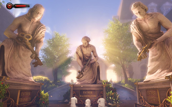 Artistry in Games bioshockinfinite_statues Gallery of the Unseen: The Historic Use of Art in Gaming Features  graphics Game Art design