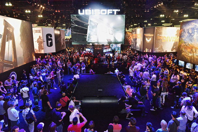 Artistry in Games e3-showfloor-2014-ubisoft The Power of Spectacle - A Simple Man's Analysis of E3 Opinion  Sony Nintendo Microsoft electronic entertainment expo e3