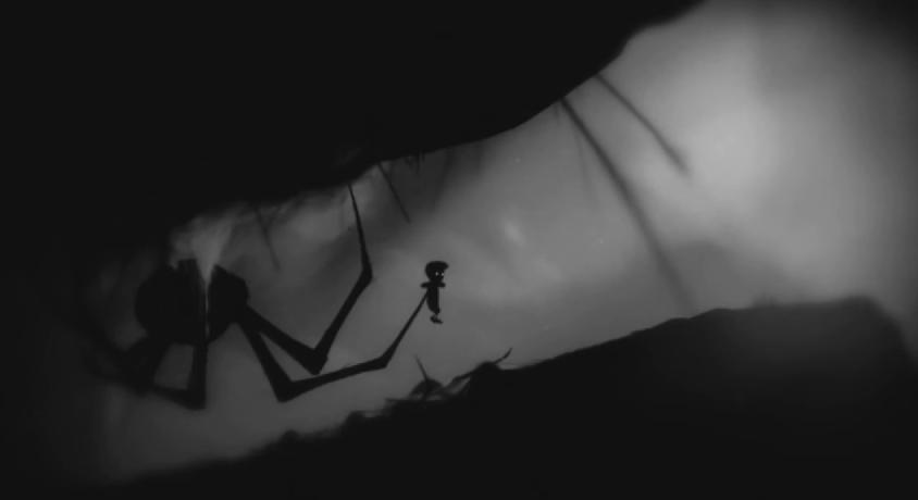Artistry in Games spider-2 Defining Moments In Games: Limbo - That F@#*ing Spider! Series  Playdead Limbo Indie Games Defining Moments