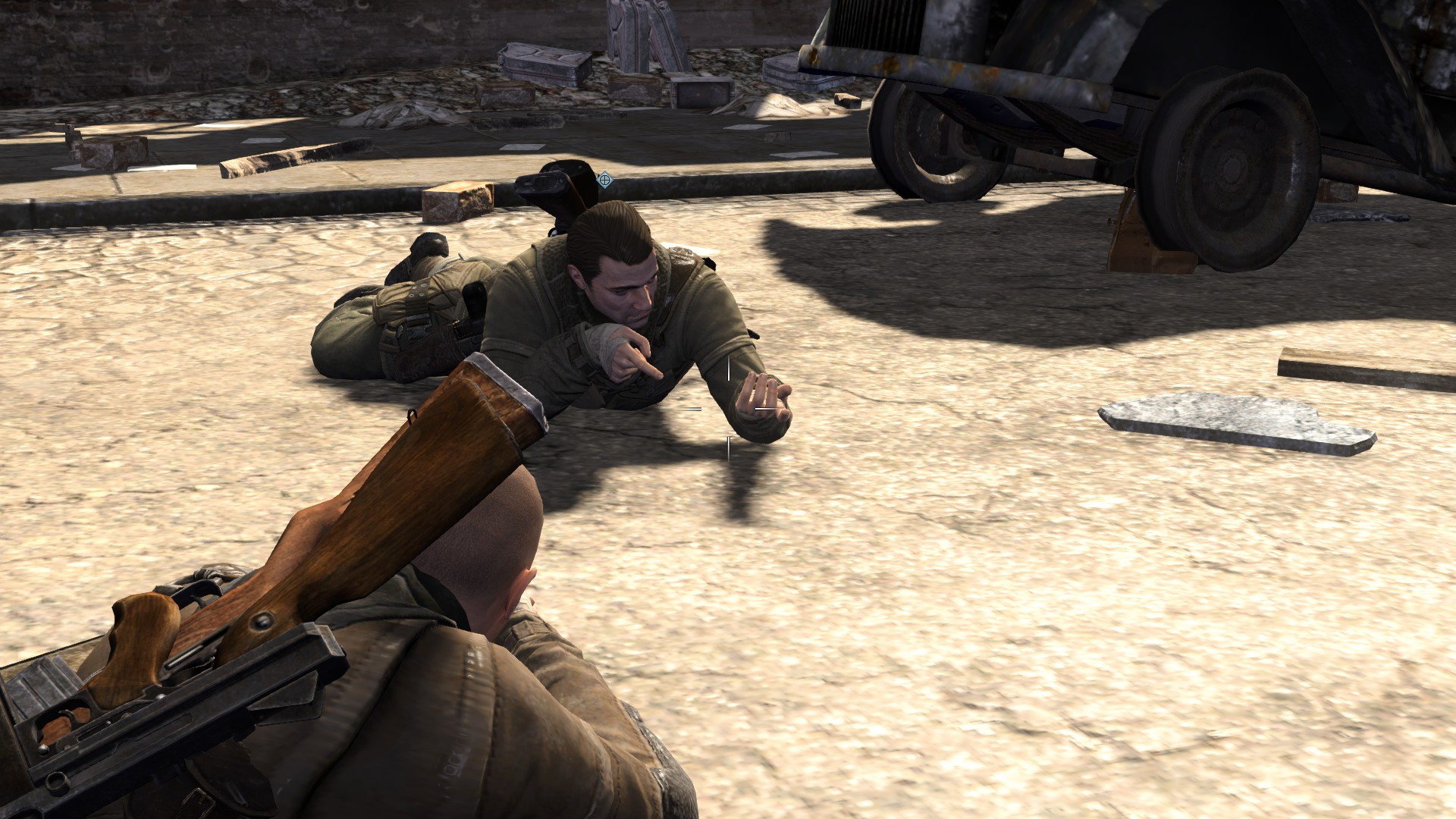 Artistry in Games 2014-07-28_00023 Still Alive! Sniper Elite V2 (PC) Series  v2 sniping sniper respawn Online multiplayer multi-player headshot games game Cooperative Co-op Artistry afrika