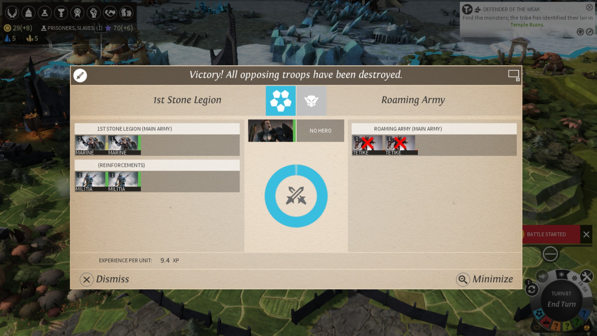 You can also auto-resolve or spectate your armies controlled by the game's AI. Direct control is still advised though.