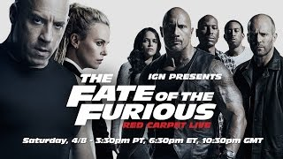 fate of the furious red carpet live stream presented by. Black Bedroom Furniture Sets. Home Design Ideas