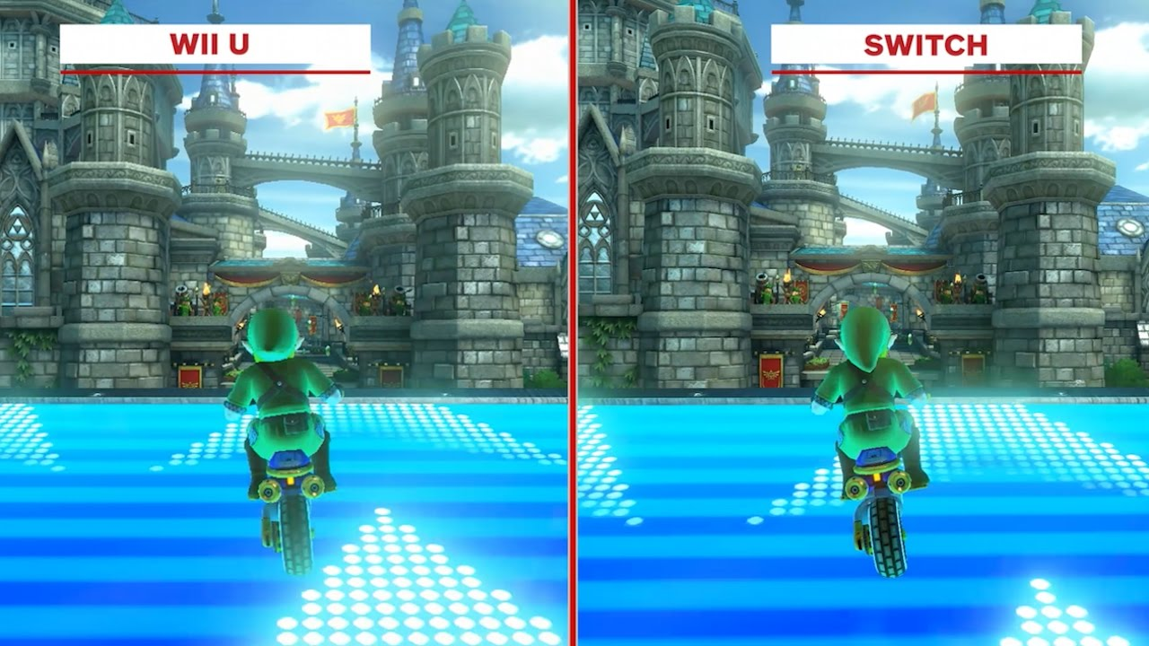 mario kart 8 deluxe graphics comparison wii u vs. Black Bedroom Furniture Sets. Home Design Ideas