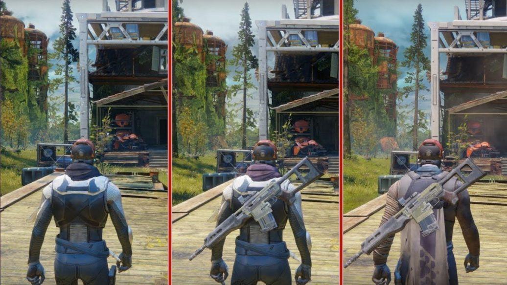 Xbox One Game Graphics : Destiny graphics comparison ps vs pro xbox