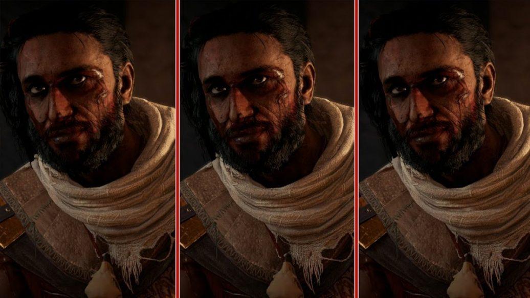 assassin�s creed origins graphics comparison � ps4 pro vs