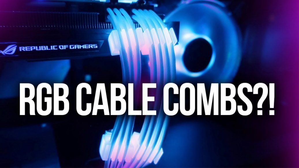 Artistry in Games Wait...RGB-Cable-Combs-are-Real-1036x583 Wait...RGB Cable Combs are Real?! Reviews  rgb pc rgb cables rgb cable combs RGB randomfrankp modular pc case ibuypower pc ibuypower case ibuypower custom oc ces 2018 cable combs 2018