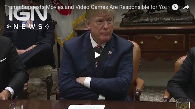Artistry in Games Screen-Shot-2018-02-27-at-9.41.43-AM Trump Suggests Movies and Video Games Are Responsible for Youth Violence - IGN News News  Xbox One video games people Parkland nra Nintendo National rifle association Marjory Stoneman Douglas High School IGN News IGN gaming games Florida feature Donald Trump Breaking news #ps4