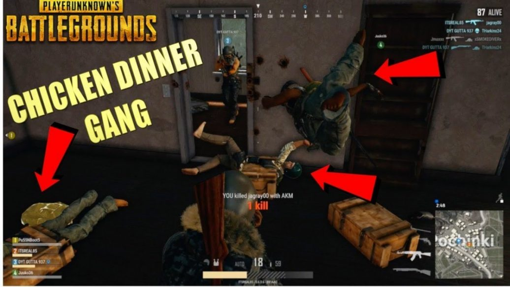 """SAVAGE """"PUBG"""" GAMEPLAY WITH THE """"CHICKEN DINNER"""" GANG"""