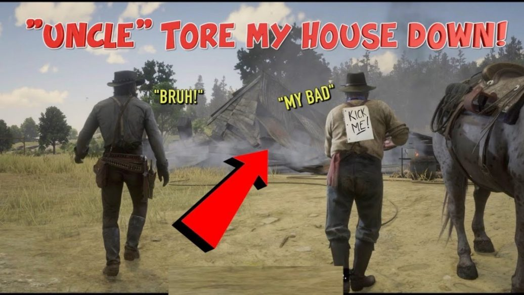 """Artistry in Games UNCLE-TORE-MY-HOUSE-DOWN-FUNNY-RED-DEAD-REDEMPTION-2-41-1036x583 """"UNCLE"""" TORE MY HOUSE DOWN! ( FUNNY """"RED DEAD REDEMPTION 2 #41) News"""